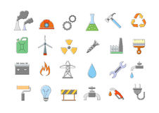 Industry & work  icons set. Set of 24 Industry & work  icons Royalty Free Stock Photo
