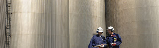 Industry worker, oil and fuel Stock Image