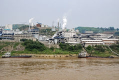 Industry on the Yangtze river Royalty Free Stock Image