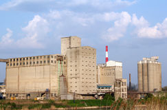 Industry zone with buildings silo Stock Image