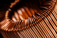 Indutor de cobre fotografia de stock