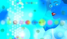 Induza o azul 3 ilustração do vetor