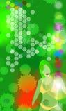 Induzca el verde 1 ilustración del vector