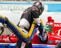 Indy汽车坑中止 免版税图库摄影