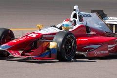 Indy汽车开放轮子赛车测试 免版税库存图片