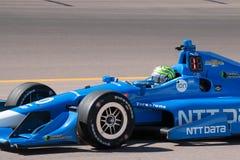 Indy汽车开放轮子赛车测试 库存图片