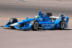 Indy汽车开放轮子赛车测试 图库摄影