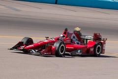 Indy汽车开放轮子赛车测试 免版税图库摄影
