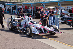 Indy汽车开放轮子赛车测试 免版税库存照片