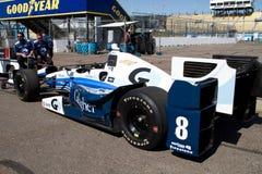 Indy汽车开放轮子赛车测试 库存照片