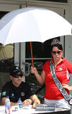 Indy 500司机Tomas Scheckter签署的题名 图库摄影