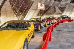 Indy 500 Auto's van het Tempo van het Korvet royalty-vrije stock afbeeldingen