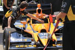 Indy car gets prepared Stock Photography