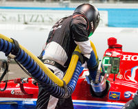 Indy Car Fuel Pit Stop Royalty Free Stock Photography