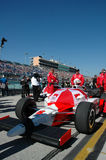 Indy car in pits refueling close up Royalty Free Stock Photo