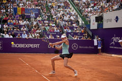 Indy De Vroome. On WTA BRD Bucharest Open Stock Images