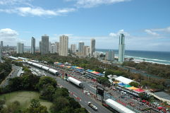 Indy - Gold Coast. Image taken of the indy track on the Gold Coast In Australia royalty free stock photography