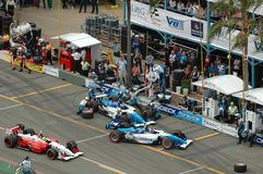 Indy - Gold Coast. Image taken of indy cars in the pits at the indy race that is held on the gold coast Royalty Free Stock Photography