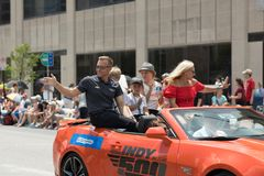 Indy 500 parada 2018 obrazy stock