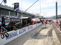 Indy 500 Pit Row Royalty Free Stock Images
