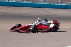 Indy samochodu koła samochodu wyścigowego otwarty testowanie Zdjęcie Royalty Free