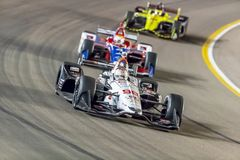 IndyCar: April 07 Desert Diamond West Valley Casino Phoenix Gran. April 07, 2018 - Avondale, Arizona, USA: Marco Andretti 98 races through the turns during the stock photo