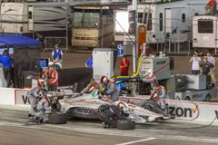 IndyCar: April 07 Desert Diamond West Valley Casino Phoenix Grand Prix. April 07, 2018 - Avondale, Arizona, USA: Will Power 12 brings his car down pit road for stock images