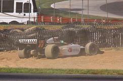 Indycar crash Royalty Free Stock Photography