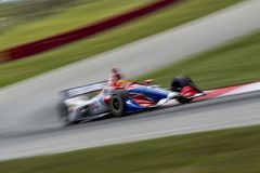 IndyCar: July 27 Honda Indy 200. July 27, 2018 - Lexington, Ohio, USA: MATHEUS LEIST (4) of Brazil takes to the track to practice for the Honda Indy 200 at Mid stock photos