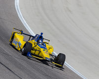 IndyCar: Jun 10 Firestone 600. Ft Worth, TX - Jun 10, 2016: Marco Andretti (27) brings his car through the turns during a practice session for the Firestone 600 royalty free stock images