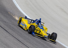 IndyCar: Jun 10 Firestone 600. Ft Worth, TX - Jun 10, 2016: Marco Andretti (27) brings his car through the turns during a practice session for the Firestone 600 stock photos