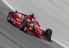 IndyCar: Jun 10 Firestone 600. Ft Worth, TX - Jun 10, 2016: Scott Dixon (9) brings his car through the turns during a practice session for the Firestone 600 at royalty free stock photography