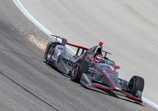 IndyCar: Jun 10 Firestone 600. Ft Worth, TX - Jun 10, 2016: Will Power (12) brings his car through the turns during a practice session for the Firestone 600 at stock photography