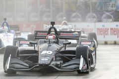 IndyCar:  June 01 Detroit Grand Prix. June 01, 2019 - Detroit, Michigan, USA: ED JONES 20 of The United Emerates races through the turns during the  race for the royalty free stock photos
