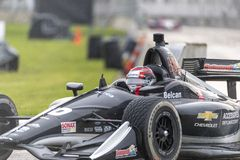 IndyCar:  June 01 Detroit Grand Prix. June 01, 2019 - Detroit, Michigan, USA: ED JONES 20 of The United Emerates races through the turns during the  race for the stock photos