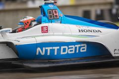 IndyCar:  June 01 Detroit Grand Prix. June 01, 2019 - Detroit, Michigan, USA: FELIX ROSENQVIST 10 of Sweeden races through the turns during the  race for the royalty free stock photography