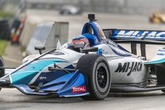IndyCar:  June 01 Detroit Grand Prix. June 01, 2019 - Detroit, Michigan, USA: TAKUMA SATO 30 of Japan races through the turns during the  race for the Detroit royalty free stock photos