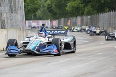 IndyCar:  June 01 Detroit Grand Prix. June 01, 2019 - Detroit, Michigan, USA: TAKUMA SATO 30 of Japan races through the turns during the  race for the Detroit royalty free stock photography