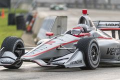 IndyCar:  June 01 Detroit Grand Prix. June 01, 2019 - Detroit, Michigan, USA: WILL POWER 12 of Australia races through the turns during the  race for the Detroit royalty free stock images