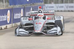 IndyCar:  June 01 Detroit Grand Prix. June 01, 2019 - Detroit, Michigan, USA: WILL POWER 12 of Australia races through the turns during the  race for the Detroit stock image