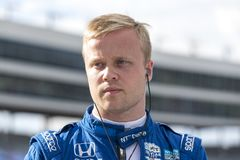 IndyCar:  June 07 DXC Technology 600. FELIX ROSENQVIST 10 of Sweeden prepares to qualify for the DXC Technology 600 at Texas Motor Speedway in Ft Worth, Texas royalty free stock photo