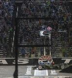 IndyCar: June 08 DXC Technology 600. JOSEF NEWGARDEN 2 of the United States wins the DXC Technology 600 at the DXC Technology 600 at Texas Motor Speedway in Ft stock images