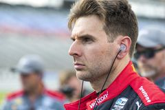 IndyCar:  June 07 DXC Technology 600. WILL POWER 12 of Australia prepares to qualify for the DXC Technology 600 at Texas Motor Speedway in Ft Worth, Texas royalty free stock image