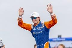 IndyCar: Juni 02 Detroit grand prix royaltyfria foton