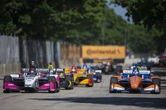 IndyCar: Juni 02 Detroit grand prix royaltyfria bilder