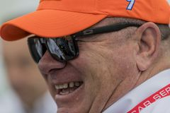 IndyCar: March 10 Firestone Grand Prix of St. Petersburg. March 10, 2018 - St. Petersburg, Florida, USA: Team owner, Chip Ganassi, talks to his crew after a Stock Image