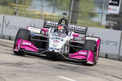 IndyCar:  May 31 Detroit Grand Prix. May 31, 2019 - Detroit, Michigan, USA: MARCO Andretti 98 of the United States prepares to practice for the Detroit Grand stock images