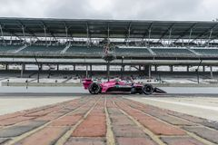 IndyCar:  May 10 IndyCar Grand Prix of Indianapolis. May 10, 2019 - Indianapolis, Indiana, USA: JACK HARVEY 60 of England  crosses the yard of bricks during royalty free stock images