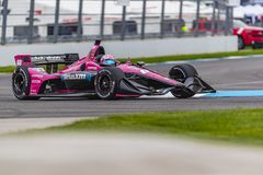 IndyCar:  May 10 IndyCar Grand Prix of Indianapolis. May 10, 2019 - Indianapolis, Indiana, USA: JACK HARVEY 60 of England  goes through the turns during practice royalty free stock photo