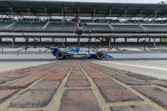 IndyCar:  May 10 IndyCar Grand Prix of Indianapolis. May 10, 2019 - Indianapolis, Indiana, USA: TAKUMA SATO 30 of Japan crosses the yard of bricks during royalty free stock photography